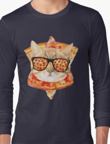 Kitty Pizza Long Sleeve T-Shirt