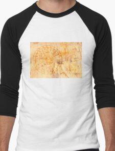 zodiac signs and astronomical clock Men's Baseball ¾ T-Shirt