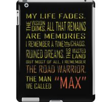 The Man We Called Max iPad Case/Skin