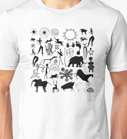 Cave paintings - primitive art Unisex T-Shirt