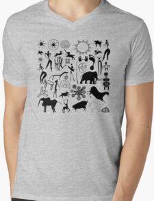 cave paintings - primitive art Mens V-Neck T-Shirt