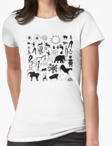 cave paintings - primitive art Womens Fitted T-Shirt