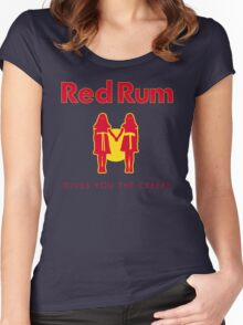 REDRUM gives you the creeps! (red) Women's Fitted Scoop T-Shirt