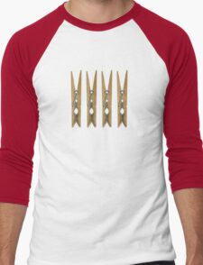 Clothes Pins Men's Baseball ¾ T-Shirt