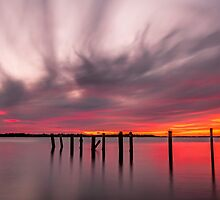 Clouds on Fire - Cleveland Qld Australia by Beth  Wode