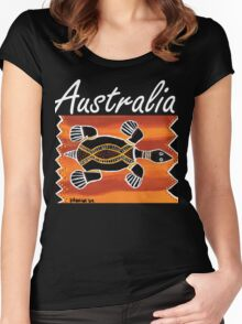 Trible Turtle Australia Women's Fitted Scoop T-Shirt