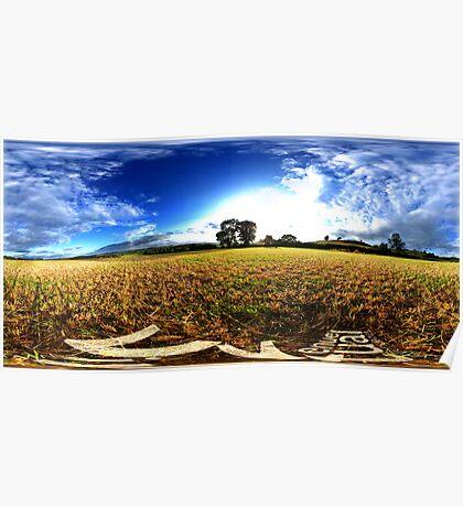cut wheatfields of west chinnock Poster