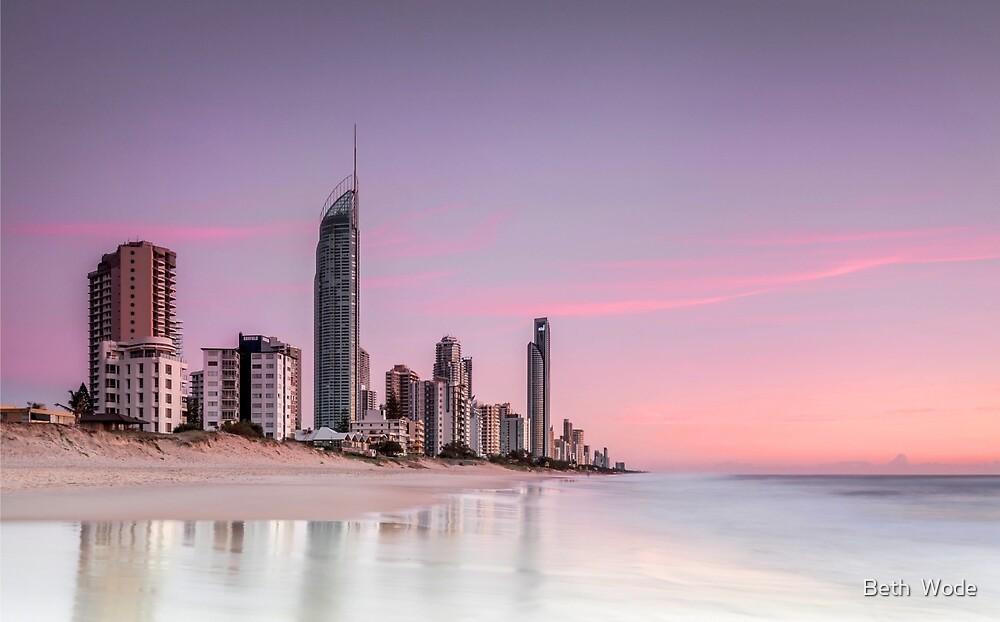 Sunrise in Paradise - Gold Coast Qld Australia by Beth  Wode