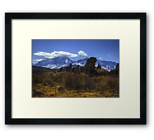 Tufa Towers and the Sierras Framed Print