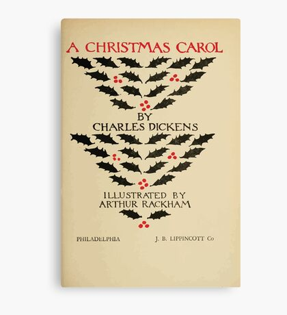 A Christmas Carol by Charles Dickens art by Arthur Rackham 1915 0009 Title Plate Canvas Print