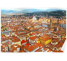 florence in hdr from the duomo Poster