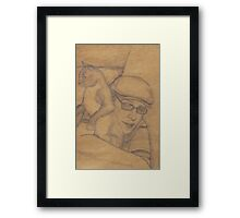 The Man and The Kittypet Framed Print