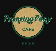 Prancing Pony Café (green / yellow / dark) Kids Clothes