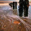 Receding tide at Sandsend by Phillip Dove