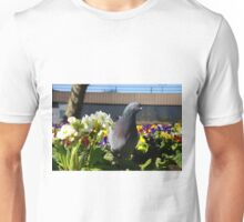 Pigeon in the Flowers Unisex T-Shirt