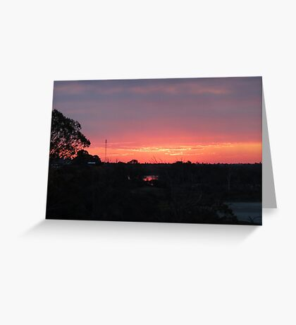 Coloured Sunset Greeting Card