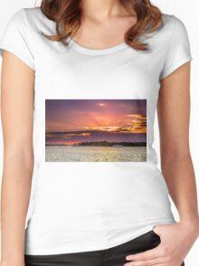 Tiger Mullet Sundown Near Jacobs Well Qld Australia Women's Fitted Scoop T-Shirt