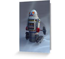 Retro Toy Robot Number 7 Greeting Card