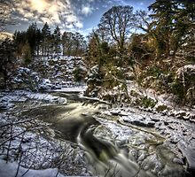 Corra Castle at Falls of Clyde by Roddy Atkinson