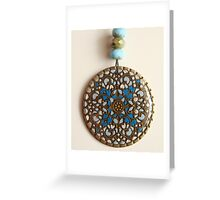 Celtic Brass Filigree Pendant Greeting Card