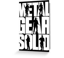 Metal Gear Solid (White) Greeting Card