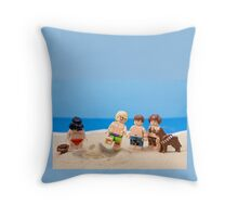 Vader's Sandcastle  Throw Pillow
