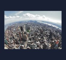 Manhattan from Empire state Building Kids Tee