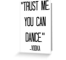 vodka love Greeting Card