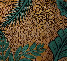 Zentangle Gold and Green by Annalisa Amato
