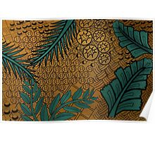 Zentangle Gold and Green Poster