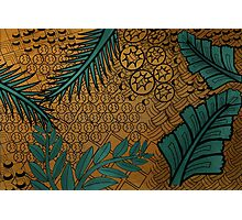 Zentangle Gold and Green Photographic Print