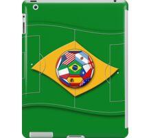 football field looks like Brazil flag with ball iPad Case/Skin