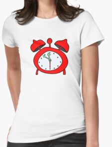 red alarmclock Womens Fitted T-Shirt