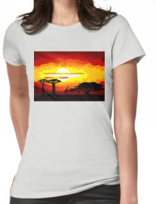 Africa sunset Womens Fitted T-Shirt