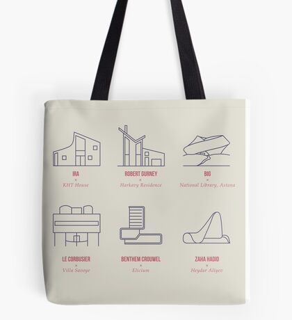 Architecture Line Design Tote Bag