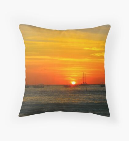 Red Day Victory Throw Pillow