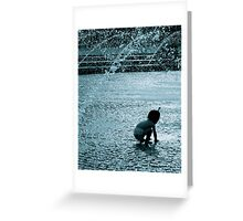 Fountain Child Greeting Card