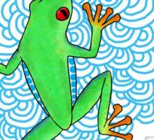 Blue Day Frog Sticker