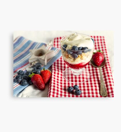 Still Life with Summer Berries Canvas Print