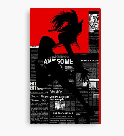 Red Paper Dance Canvas Print