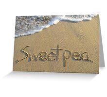 Sweetpea Greeting Card