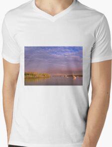 Tiger Mullet Twilight - Moreton Bay Qld Australia Mens V-Neck T-Shirt
