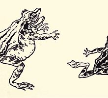The Zankiwank & the Bletherwitch by Shafto Justin Adair Fitz Gerald art Arthur Rackham 1896 0042 Frogs by wetdryvac