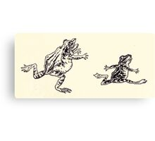 The Zankiwank & the Bletherwitch by Shafto Justin Adair Fitz Gerald art Arthur Rackham 1896 0042 Frogs Canvas Print