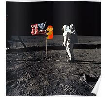 Super Mario On the Moon Poster