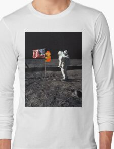 Super Mario On the Moon Long Sleeve T-Shirt