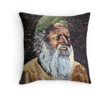 The Green Turban Throw Pillow