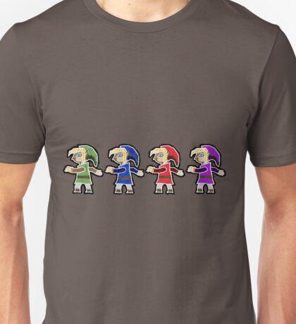 Four Swords A Link Between Worlds Wall Art Style Unisex T-Shirt
