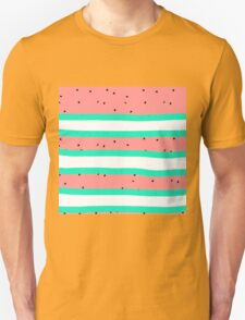 Summer bright coral mint watermelon stripe pattern T-Shirt