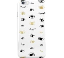 Funny fashion gold and black cute eyes pattern iPhone Case/Skin